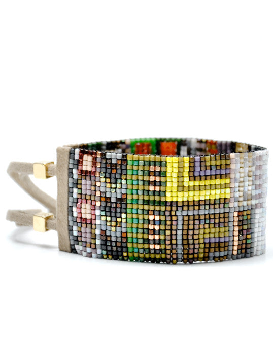 Wide Beaded Bracelet in Galapagos - LEIF