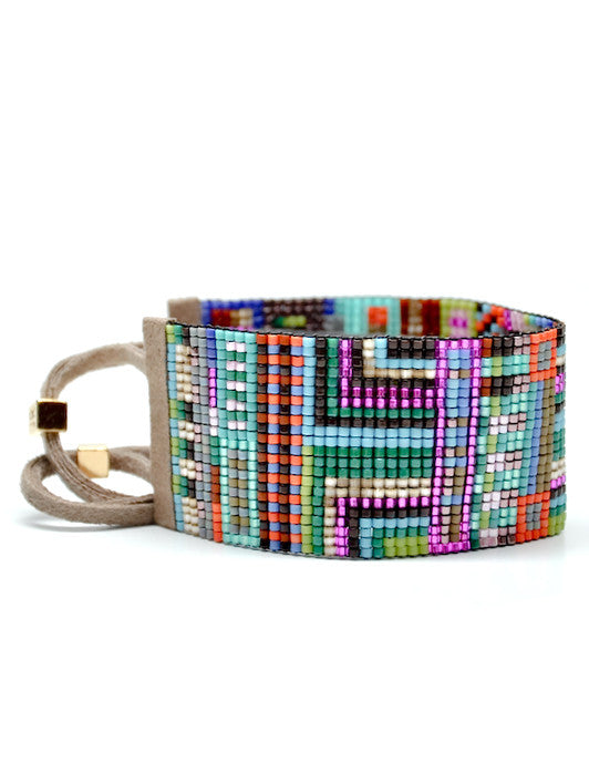 Wide Beaded Bracelet in Rio - LEIF