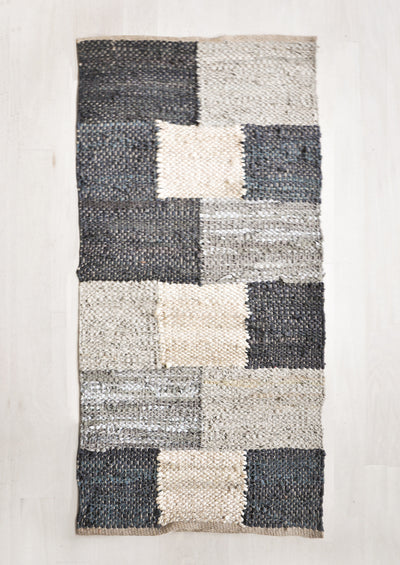 Jute & Leather Woven Rug hover