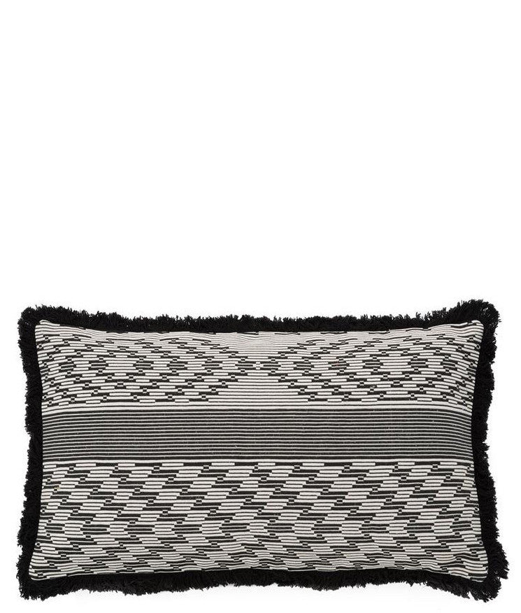 Monochrome Fringe Trim Pillow - LEIF