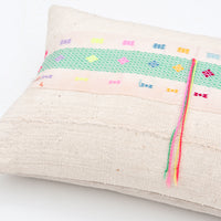 1: Karen Neon Trim Pillow in  - LEIF