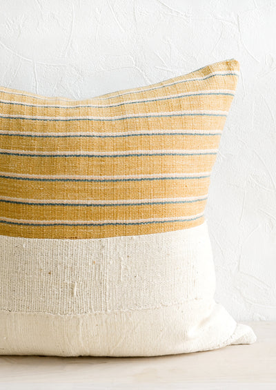 Karen Stripe Pillow in Goldenrod Multi
