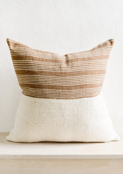 Karen Stripe Pillow in Brown & Ivory hover
