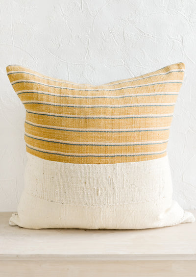 Karen Stripe Pillow in Goldenrod Multi hover