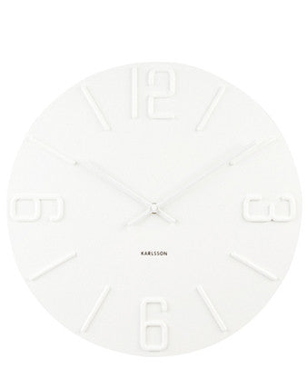 All White Wall Clock - LEIF