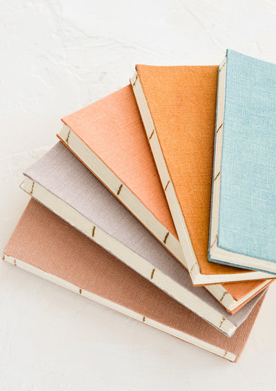 Naturally Dyed Hemp Notebook hover