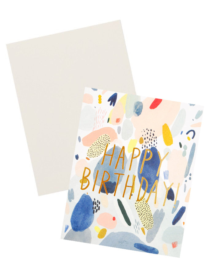 Happy Birthday Scribbles Card - LEIF