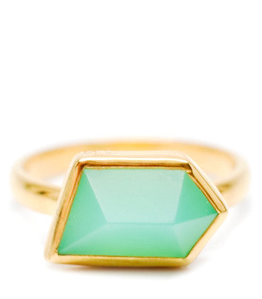 Mia Ring in Chrysoprase - LEIF