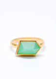 Mia Ring in Chrysoprase