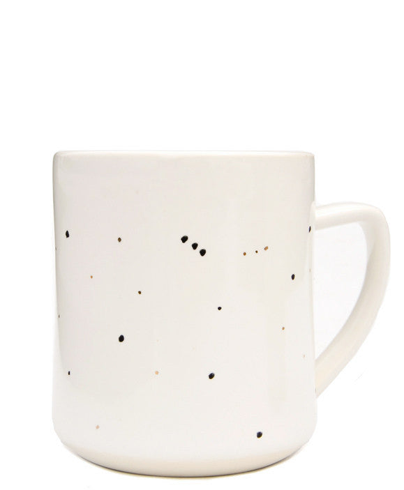 Ivory / Black: Constellation Mug in Ivory / Black - LEIF