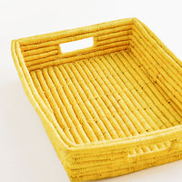 Hued Raffia Serving Tray