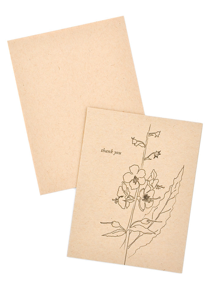 Kraft Floral Thank You Card - LEIF
