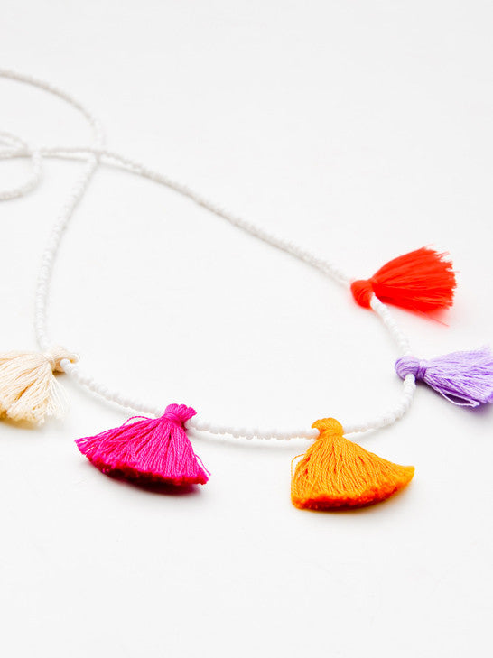 Nima Beaded Tassel Necklace