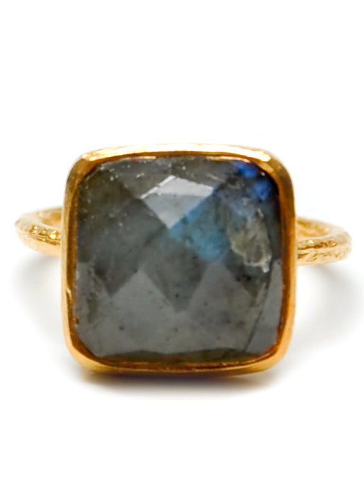 Labradorite Facet Ring