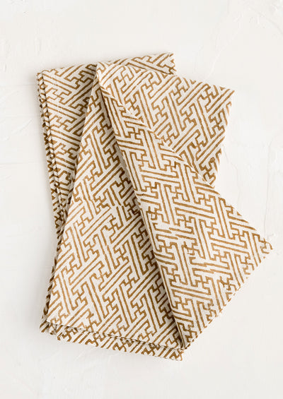 Labyrinth Print Napkin Set