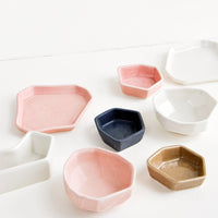3: Faceted Mini Ceramic Dish in  - LEIF
