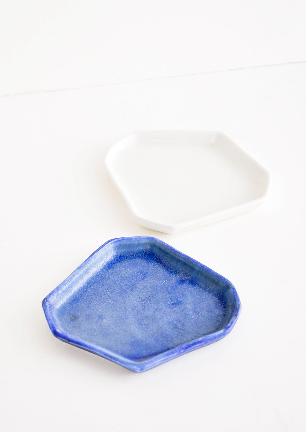 2: Faceted Ceramic Trinket Tray in  - LEIF