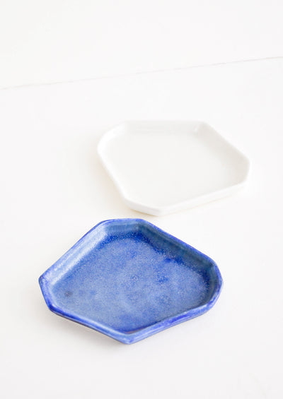 Faceted Ceramic Trinket Tray hover