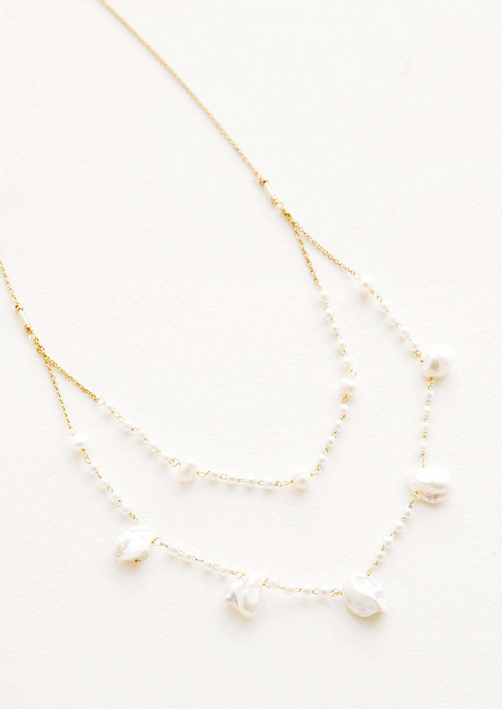 2: Layered Baroque Pearl Necklace in  - LEIF