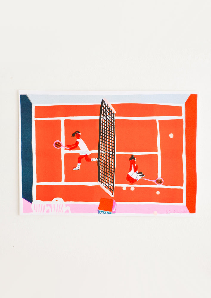 1: Tennis Game Print in  - LEIF