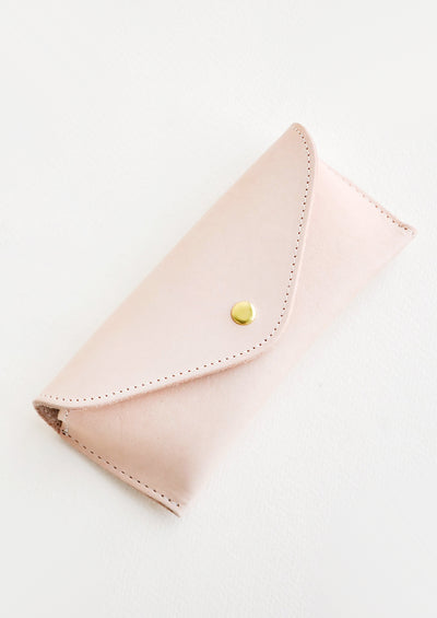 Structured Leather Glasses Case hover