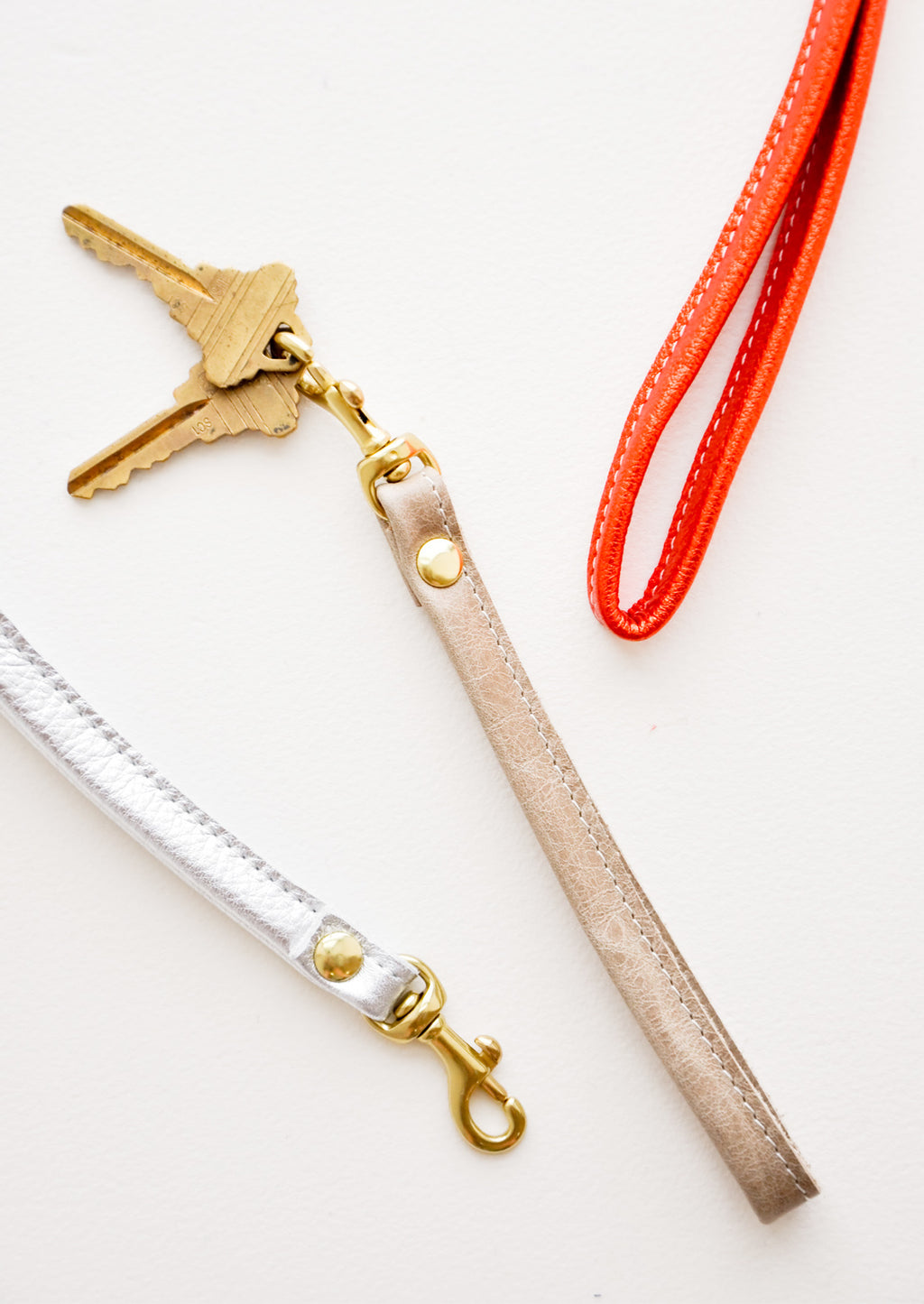 1: Leather Loop Keychain in  - LEIF