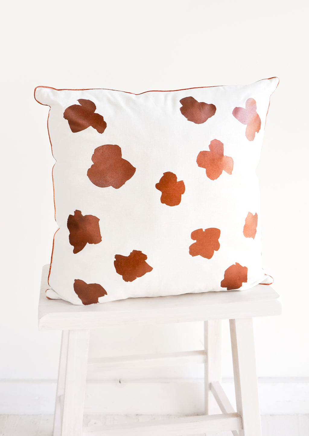 1: Ink Flower Pillow