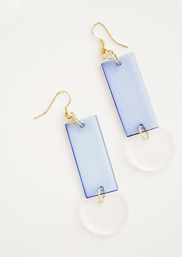 Optic Blue: Lennon Lucite Earrings in Optic Blue - LEIF