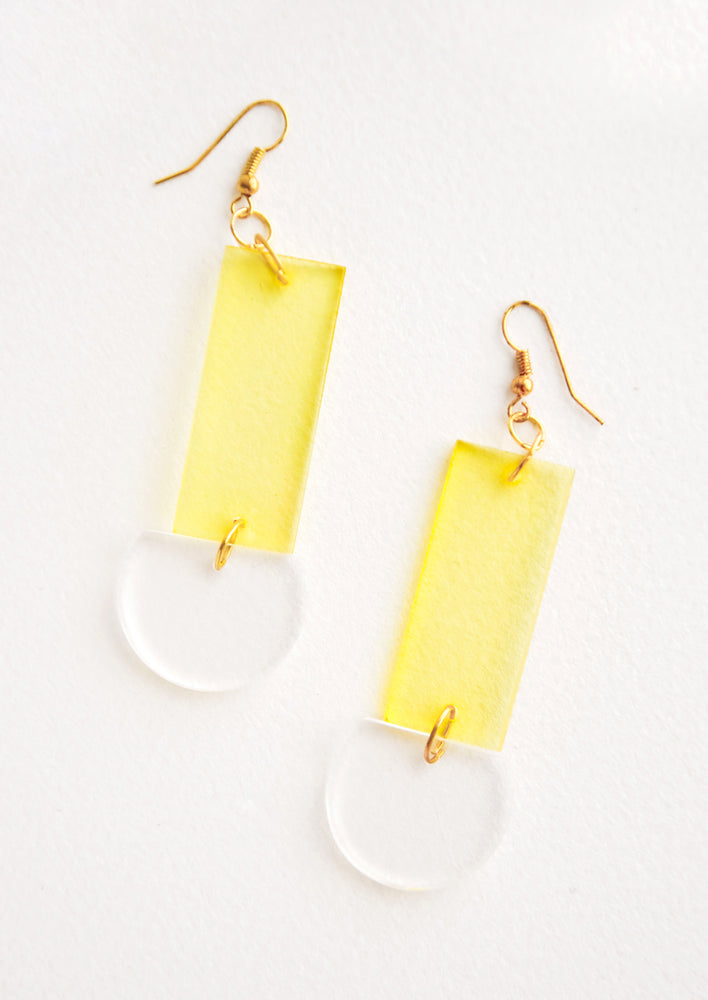 Lennon Lucite Earrings in Sunny Yellow - LEIF
