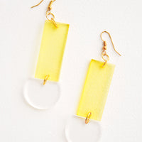 Sunny Yellow: Lennon Lucite Earrings in Sunny Yellow - LEIF