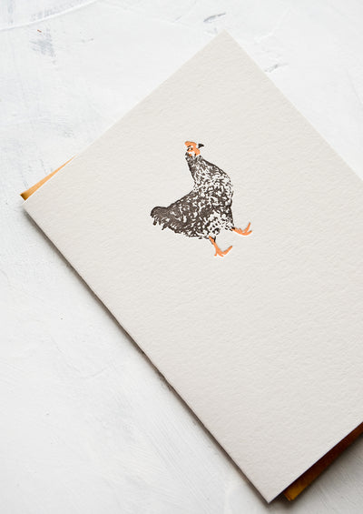 Chicken Blank Card hover