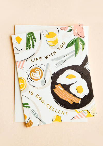 Life With You Is Egg-cellent Card hover