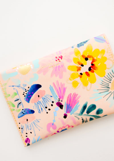Floral Composition Leather Clutch hover