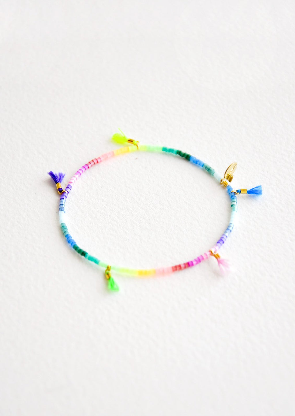 Lilu Mini Tassel Bracelet in Rainbow Gradient - LEIF