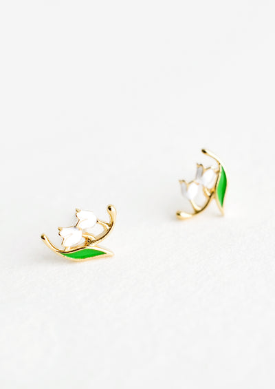Lily of the Valley Stud Earrings hover