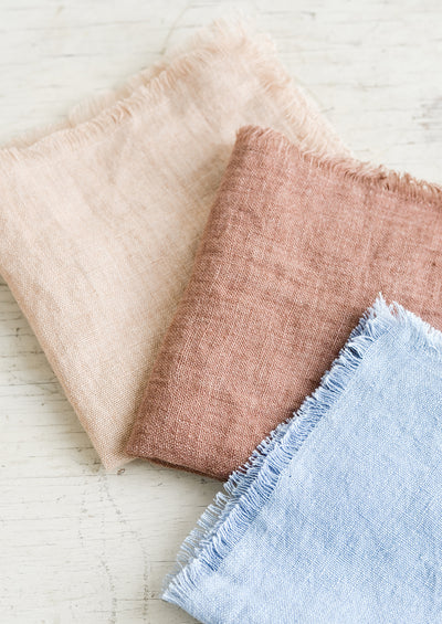 Frayed Linen Cocktail Napkin