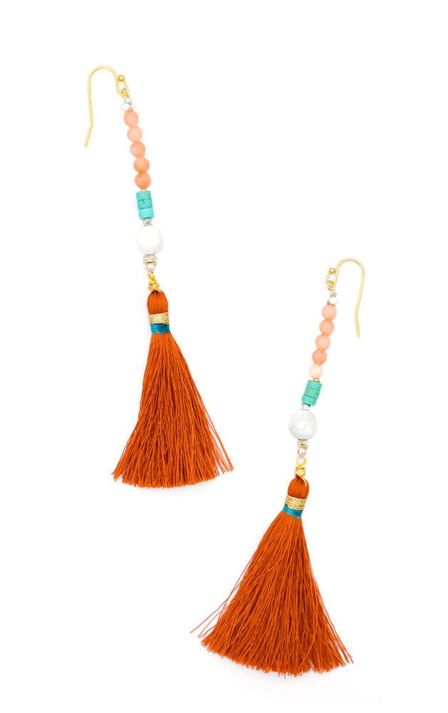 Red Rock: Linosa Earrings in Red Rock - LEIF