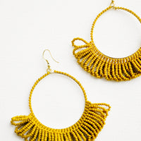 Lichen: Loop Beaded Hoop Earrings in Lichen - LEIF