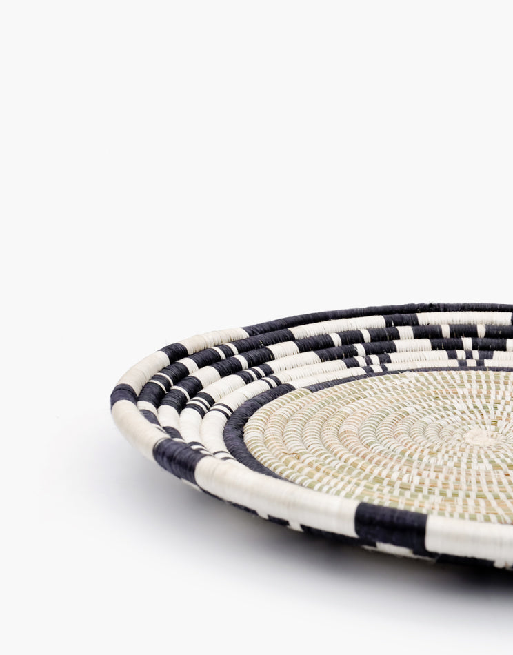 2: Monochrome Sweetgrass Looped Tray in  - LEIF