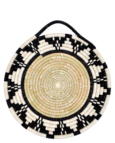 Monochrome Sweetgrass Looped Tray