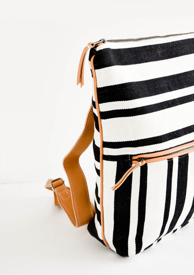 Lorena Canvas & Leather Backpack hover