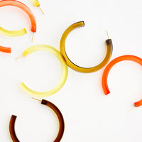 1: Lucite Hoop Earrings in  - LEIF