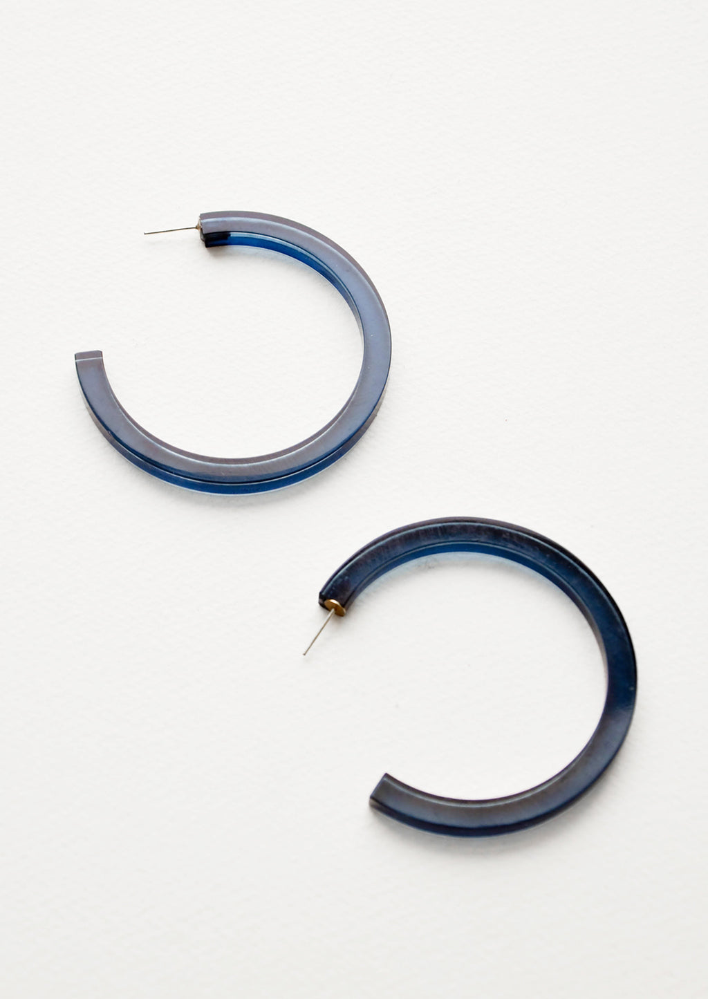 Coastal: Lucite Hoop Earrings in Coastal - LEIF