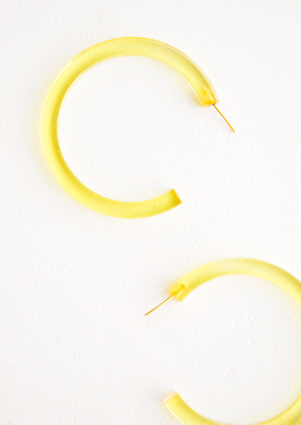 Sunray: Lucite Hoop Earrings in Sunray - LEIF
