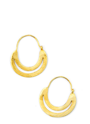 Lunar Hoop Earrings