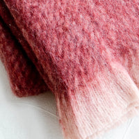 3: Plush, fuzzy mohair-like fabric with eyelash trim
