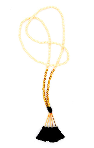 Mala Beaded Tassel Necklace - LEIF