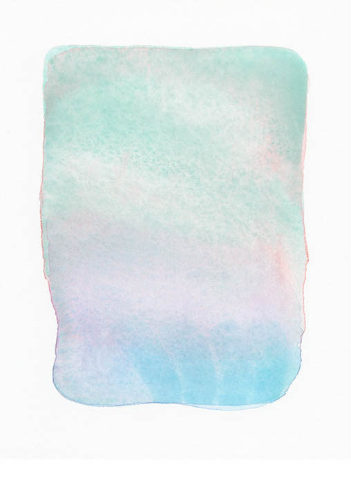 """Airy Form in Mint"" Original Watercolor Painting by Malissa Ryder - LEIF"