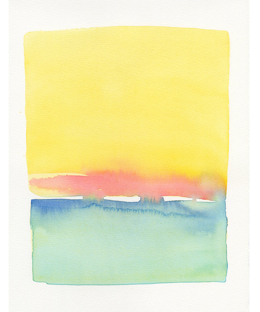 Yellow Sky & Water Forms - LEIF
