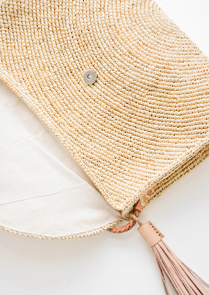 3: Leah Straw Shoulder Bag in  - LEIF